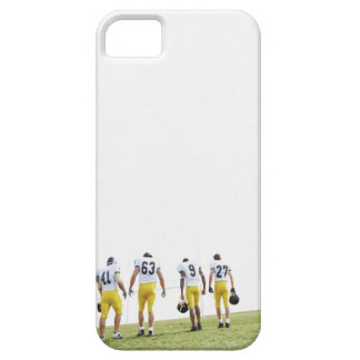 Back view portrait of rugby team iPhone 5 cases