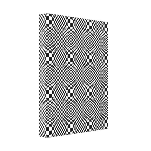 Back & White Warp Stretched Canvas Print