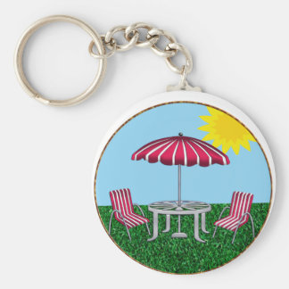 Back Yard Relaxing Keychain