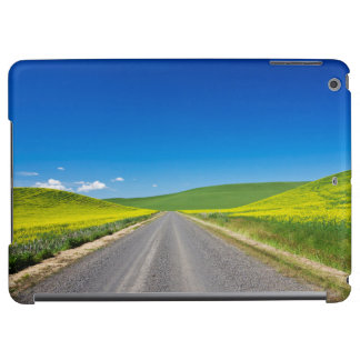 Backcountry road through Spring Canola Fields Case For iPad Air