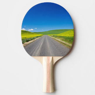 Backcountry road through Spring Canola Fields Ping Pong Paddle