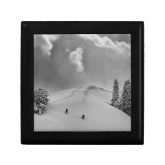Backcountry Ski Climbers in fresh powder Gift Box