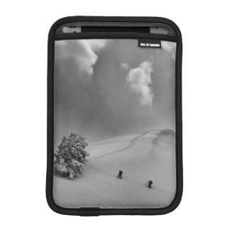 Backcountry Ski Climbers in fresh powder iPad Mini Sleeves