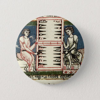 Backgammon 6 Cm Round Badge