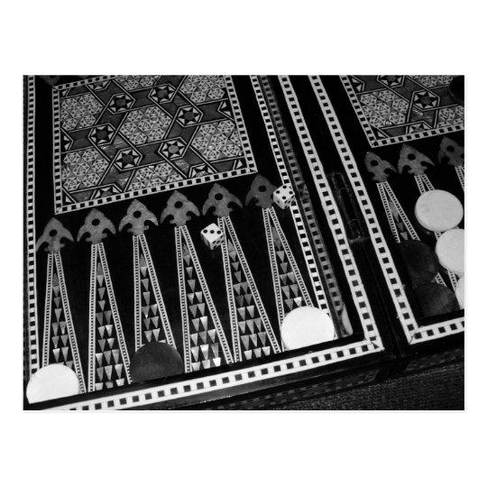 Backgammon Board Postcard