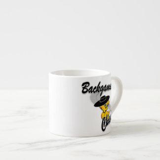 Backgammon Chick 4 Espresso Cups