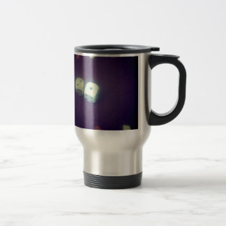 Backgammon dice travel mug