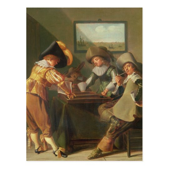 Backgammon Players, 17th century Postcard
