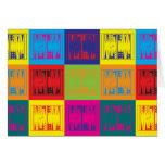 Backgammon Pop Art Card