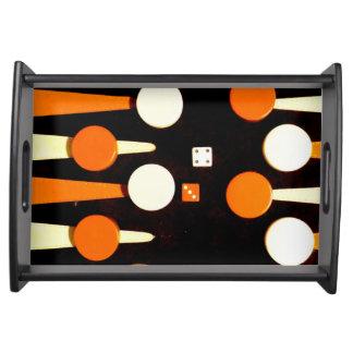 Backgammon Serving Tray