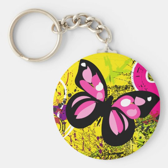Background 3 basic round button key ring