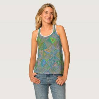Background Abstract Geometric Tank Top