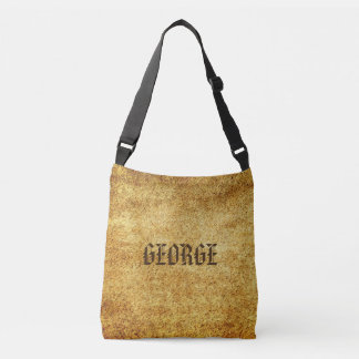 Background - antique colored 3 grunge + your ideas crossbody bag