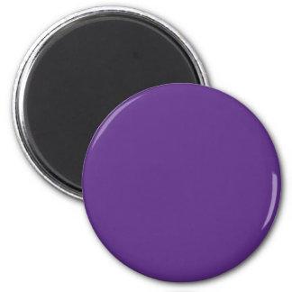 Background Color - Purple 6 Cm Round Magnet