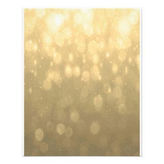 Background - Gold Bokeh Glitter Lights 11.5 Cm X 14 Cm Flyer