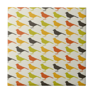 Background of birds2 small square tile
