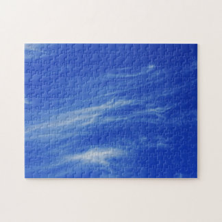 Background of blue sky. jigsaw puzzle