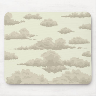 background of clouds in the sky in vintage style mouse mat