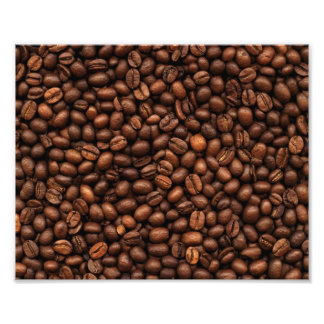 Background Of Coffee Beans Photo Print