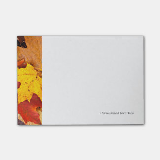 Background Of Colorful Autumn Leaves On Forest Post-it® Notes
