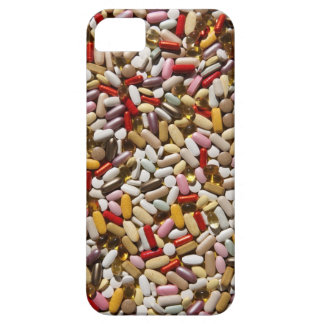 Background of colorful multi-vitamin pills, iPhone 5 case
