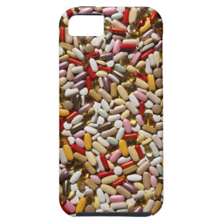 Background of colorful multi-vitamin pills, iPhone 5 cover