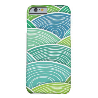 Background of curled abstract green waves barely there iPhone 6 case