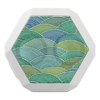 Background of curled abstract green waves white boombot rex bluetooth speaker