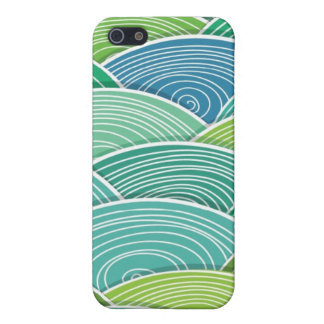Background of curled abstract green waves iPhone 5 covers