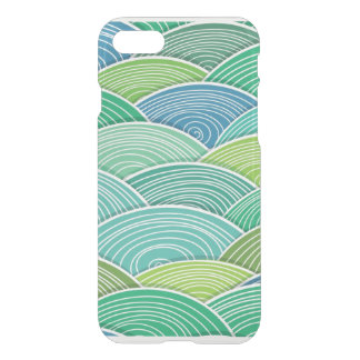 Background of curled abstract green waves iPhone 7 case