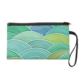 Background of curled abstract green waves wristlet