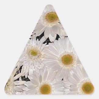 Background of daisy flowers triangle sticker