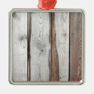 Background of wide boards with natural wood textur Silver-Colored square decoration