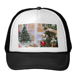 Background on the topic of Christmas and New Year Cap