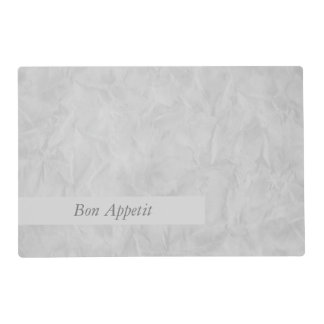 Background PAPER TEXTURE - grey + your text Laminated Place Mat