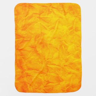 Background PAPER TEXTURE - orange yellow Swaddle Blankets