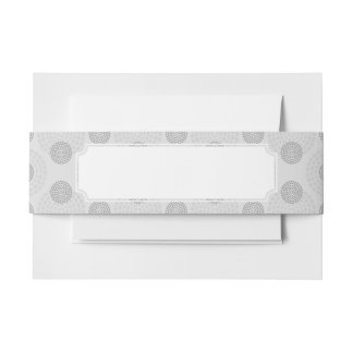 Background Pattern Invitation Belly Band