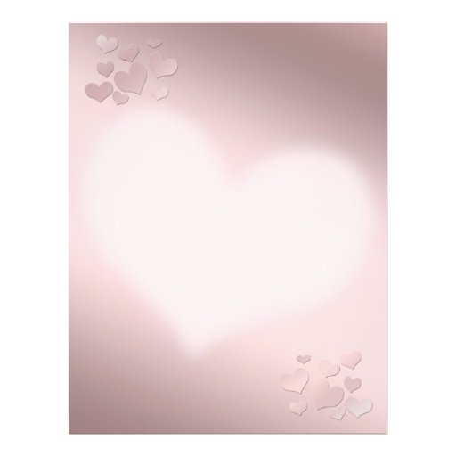 Background pearly pink Color Personalized Flyer