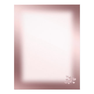 Background  pink Color with pearl hearts 21.5 Cm X 28 Cm Flyer