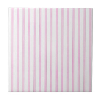 Background Pink Watercolor Stripes Small Square Tile