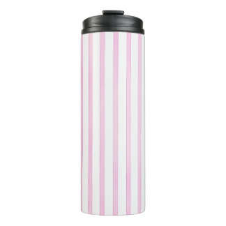 Background Pink Watercolor Stripes Thermal Tumbler