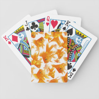 Background Showing a Large Group of Goldfish Bicycle Playing Cards
