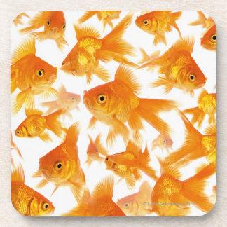 Background Showing a Large Group of Goldfish Coasters