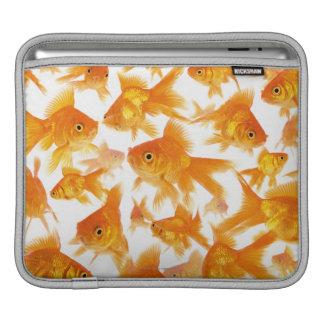 Background Showing a Large Group of Goldfish iPad Sleeve