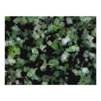 Background using green cloth patches photo print