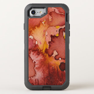 background watercolor 3 OtterBox defender iPhone 8/7 case
