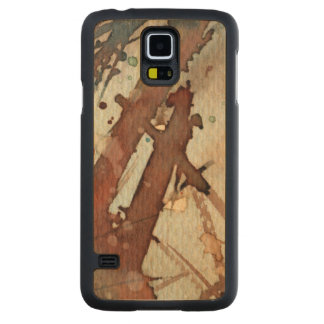 background watercolor 5 maple galaxy s5 slim case