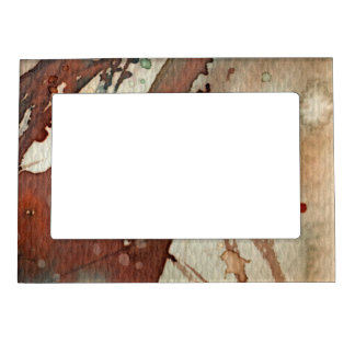 background watercolor 5 picture frame magnet