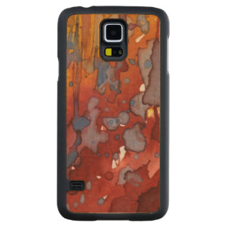 background watercolor 7 maple galaxy s5 slim case