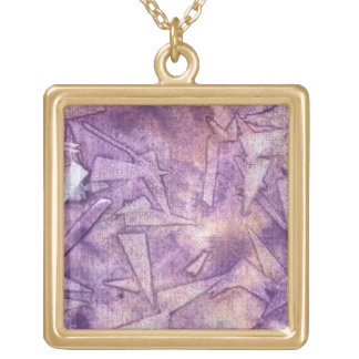 background watercolor gold plated necklace
